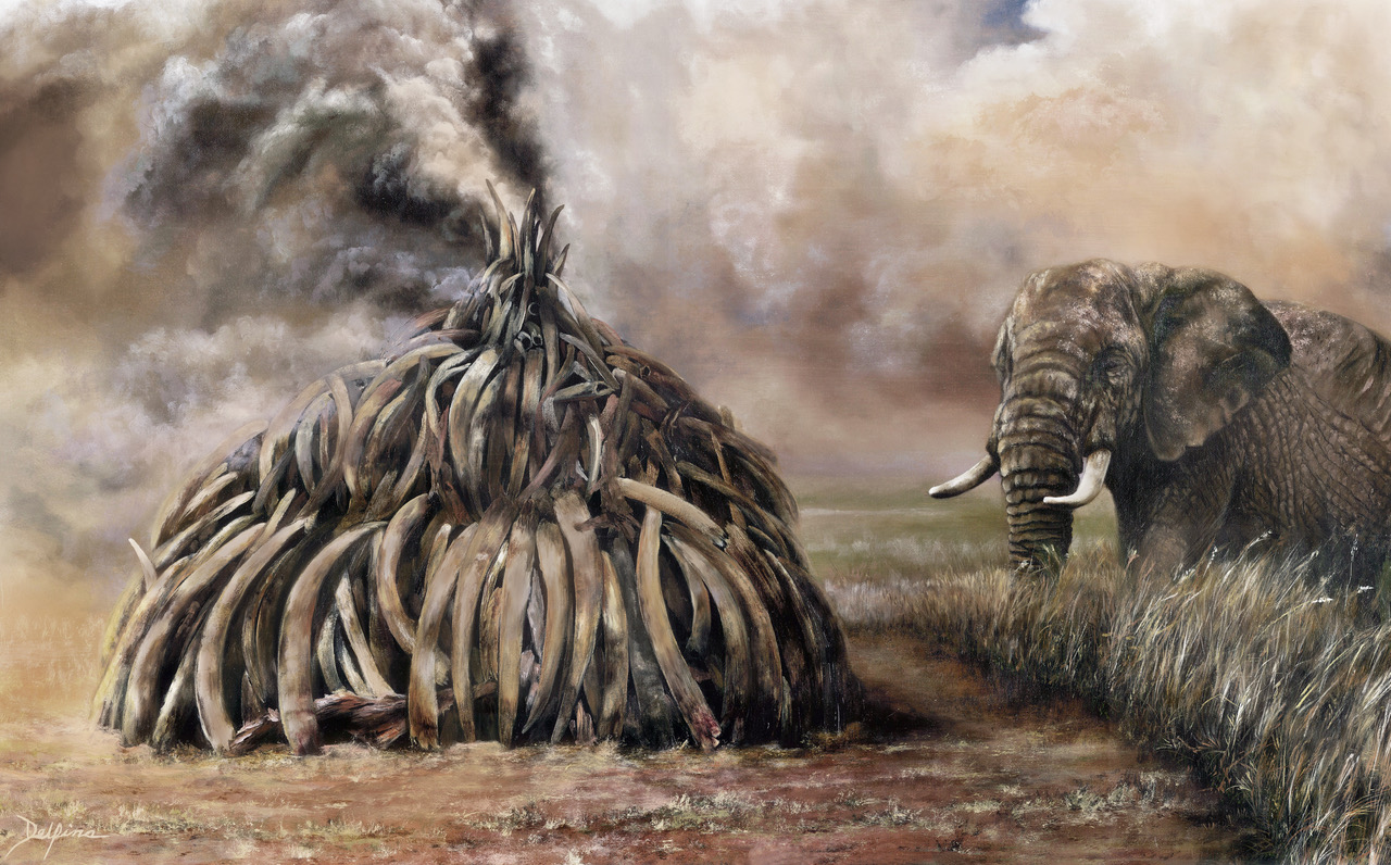 Laguna Beach Artist Fights for Elephants Survival