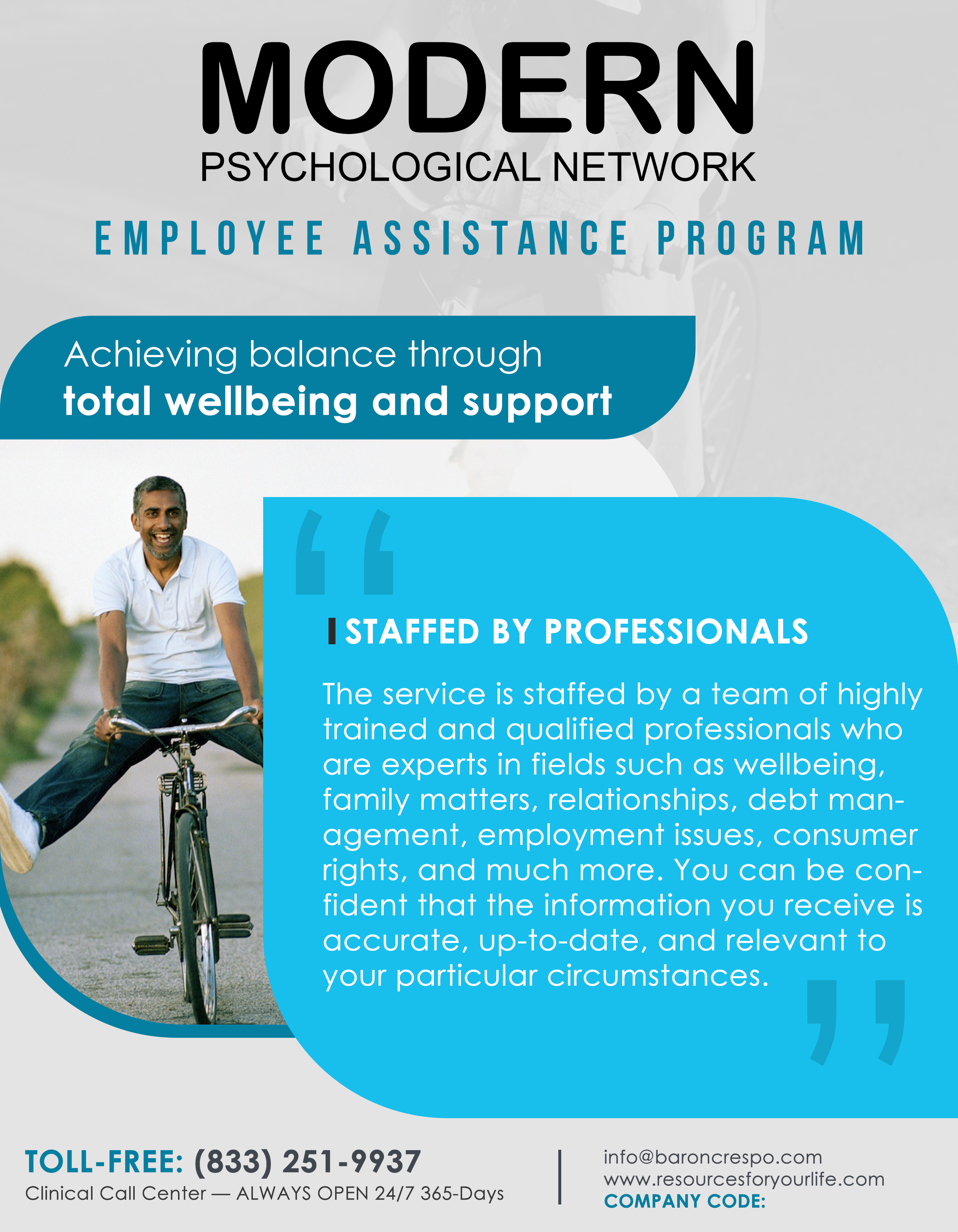 Modern Psychological Network Launches Nationwide Employee Assistance Program