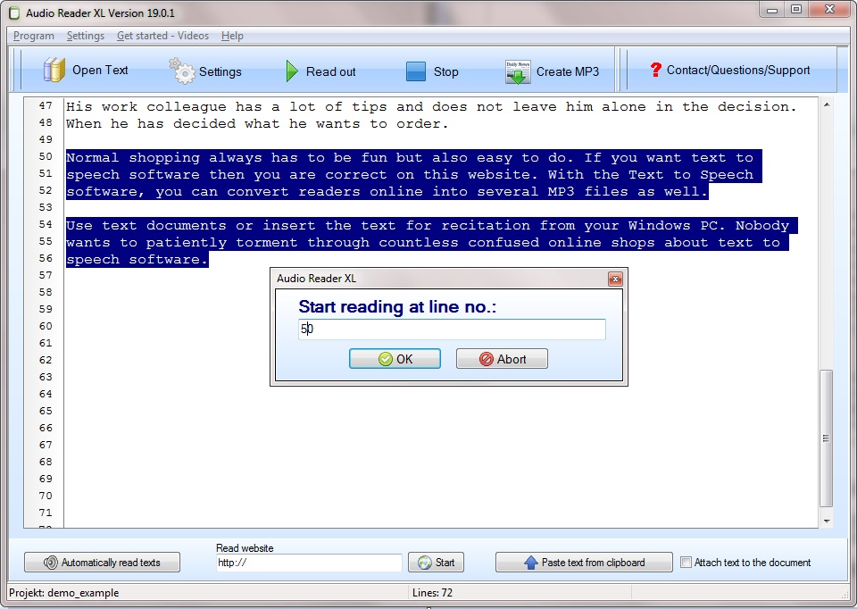 Text to Speech Software Audio Reader XL is being lauded by its users as one of the most accessible text readers