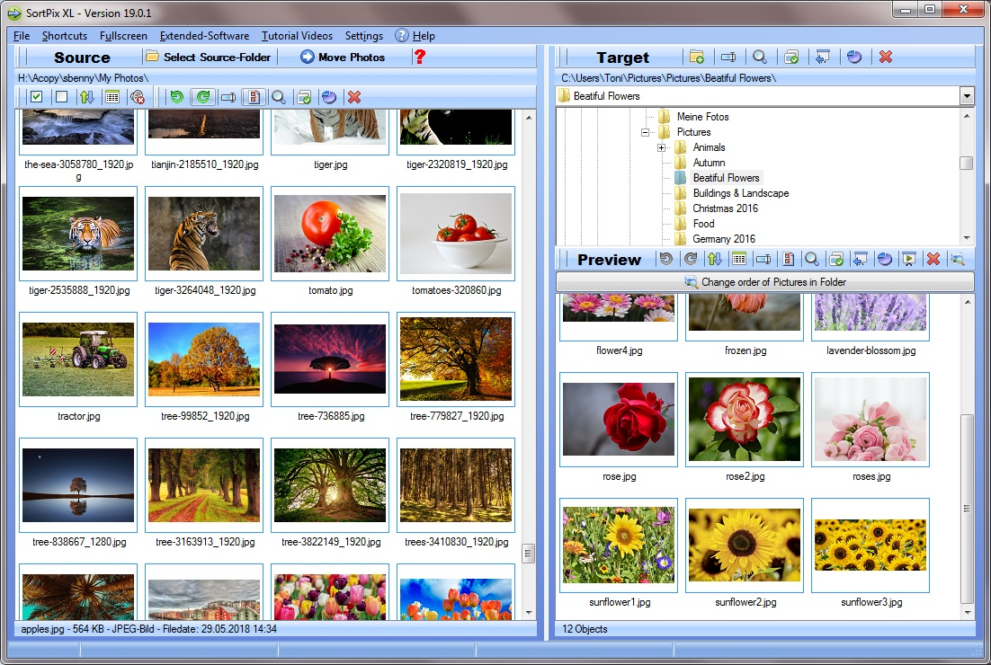 New Highly Accessible Duplicate Photo Finder Application SortPix XL