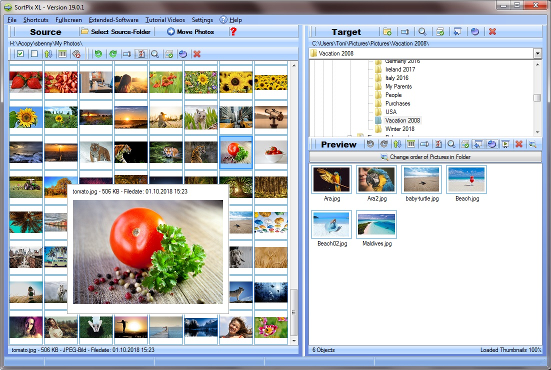 Photo managing software SortPix XL is being highly demanded by its users for being highly compatible