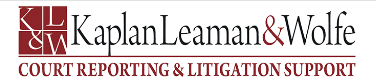 Kaplan, Leaman, & Wolfe Court Reporters - Marlton, NJ, Offers Court Reporting Services