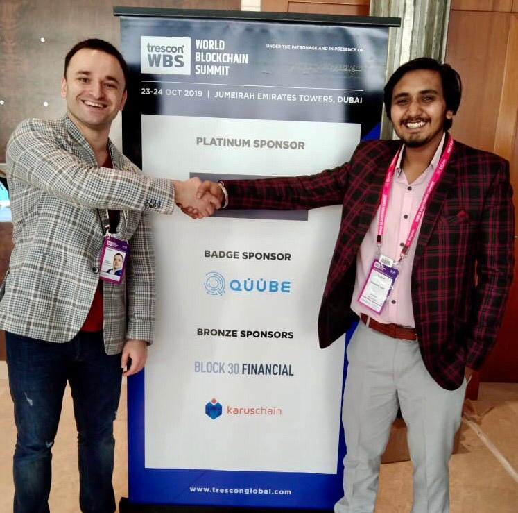 Deepanshu Bhatt joins hand with Quube Exchange at WBS Dubai