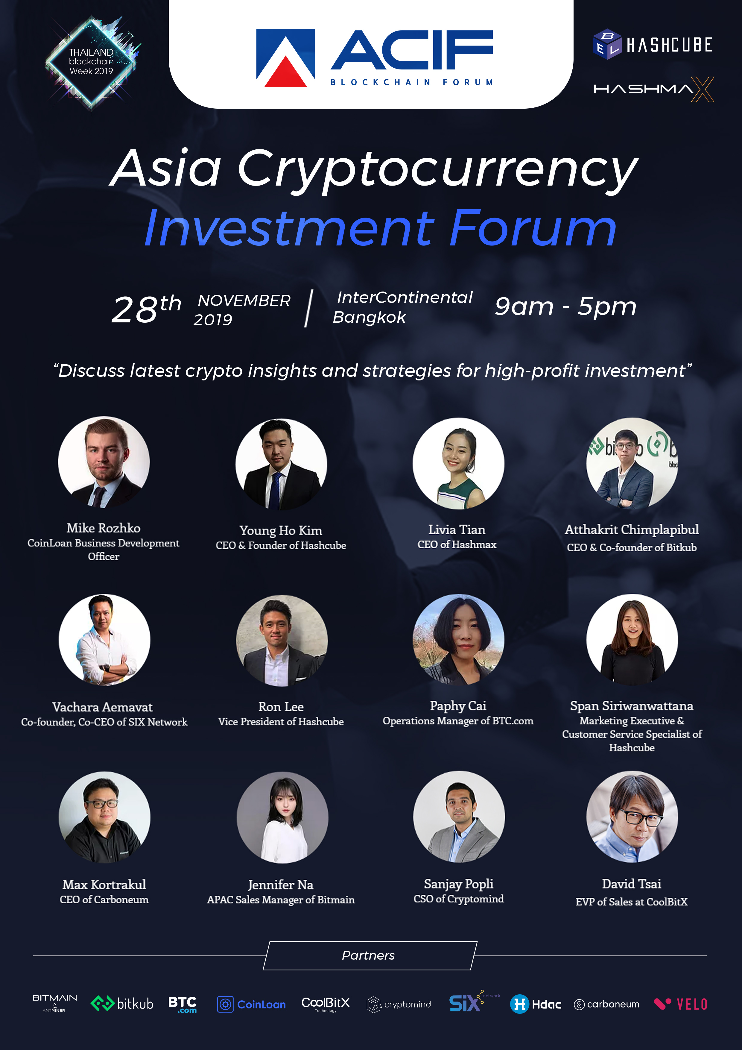 Don't Ever Miss Asia Crypto Investment Forum - A Regional Digital Event in Thailand on November 28th