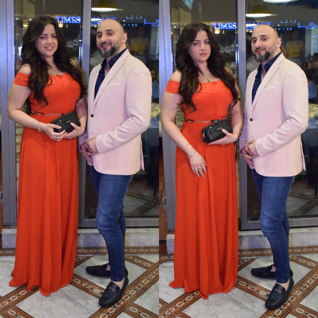 Nadim Zidan welcomes the celebrity Egyptian actress Mona Farouk to Dubai