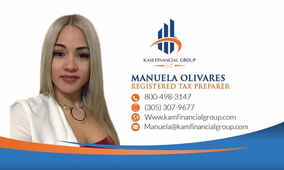 Kam Financial Group Celebrates Tax Agent Manuela Olivares\' Six Years With Firm and is now Offering Free Tax Estimate