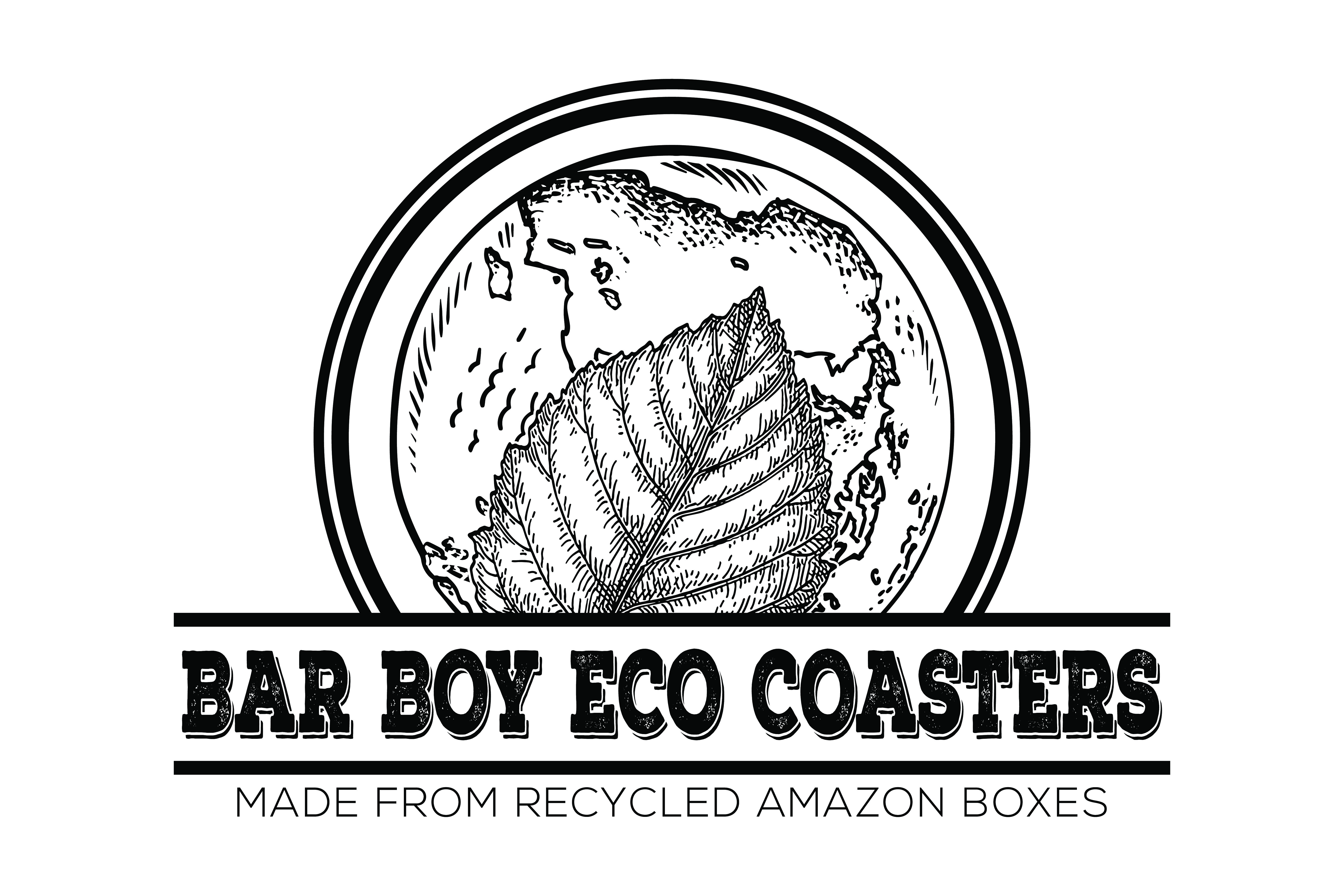 Bar Boy Eco Coasters Recycles Used Amazon Boxes into Redesigned Eco-Friendly Drink Coasters