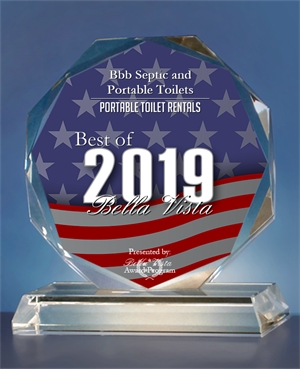 Bentonville Septic Service Company Wins Award In 2019 Best of Bella Vista Awards For The Portable Toilet Category