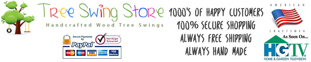 TreeSwingStore.com Offers the Finest Hand-Crafted Wood Tree Swings for Adults and Kids