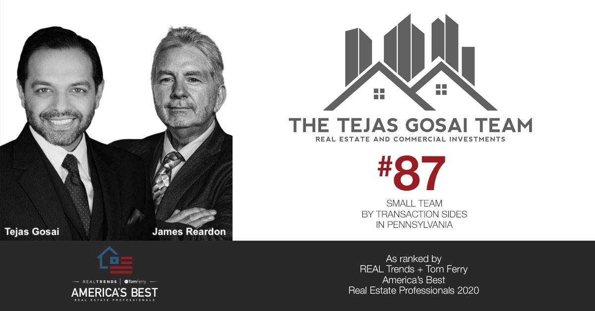 The Tejas Gosai Team Ranks in Top 100 of America's Best Real Estate Professionals
