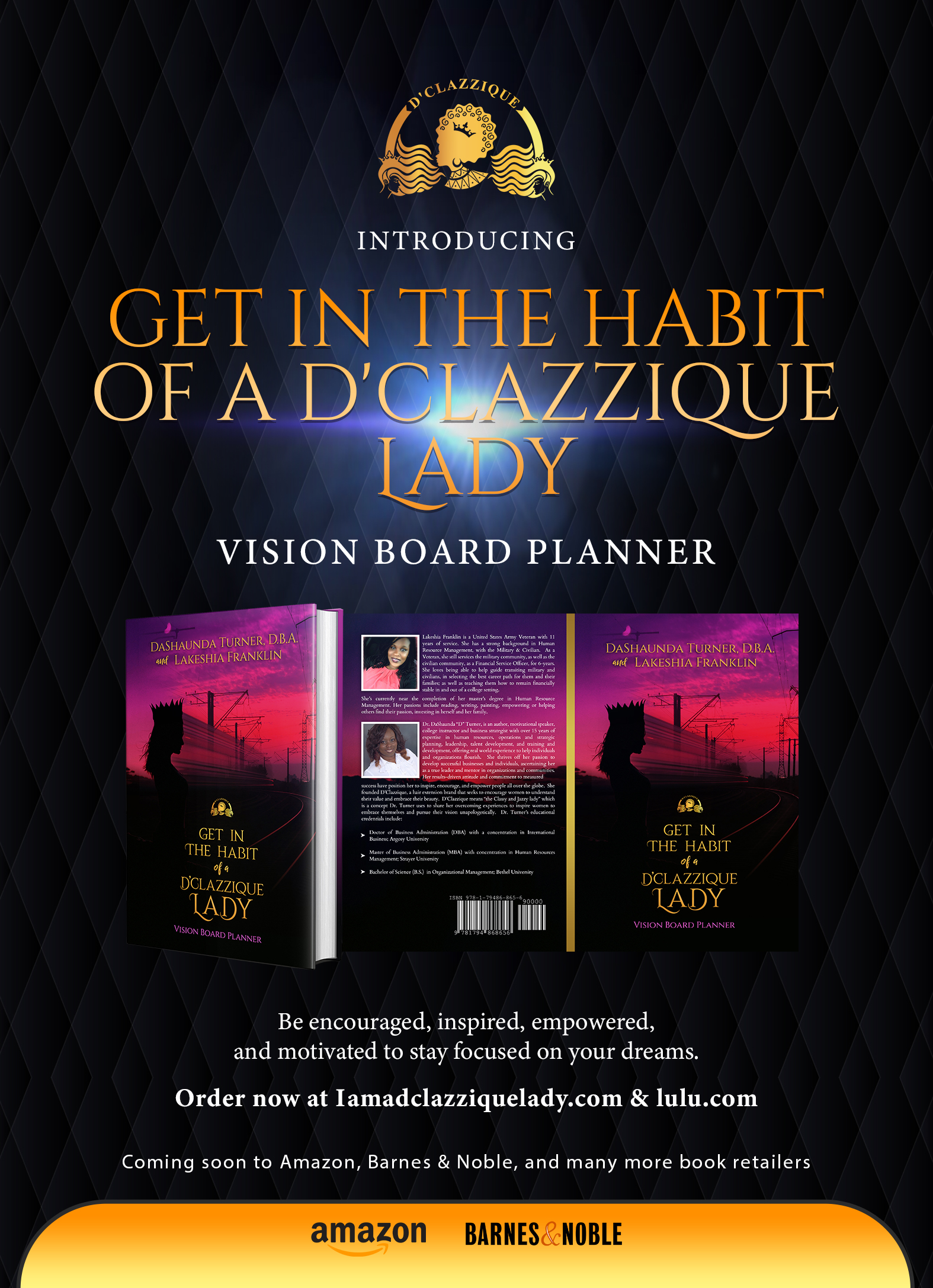 "Announcing the Launch of ""Get in the Habit of a D'Clazzique Lady"", a Vision Board Planner Designed to help move from a dream chaser to a high flier"