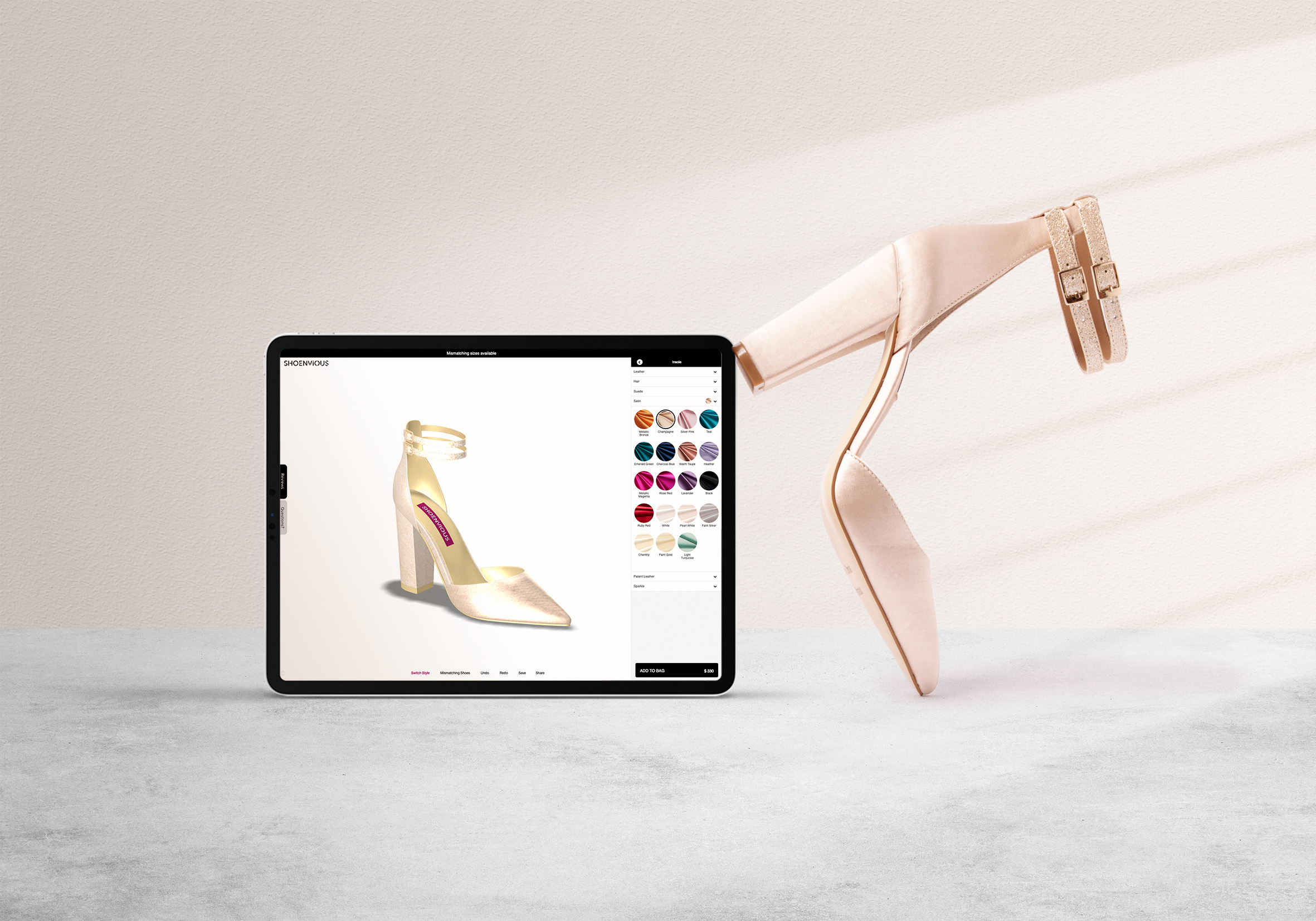 Shoenvious 3D Designer Lets Women Completely Customize Shoes for their Wedding Day