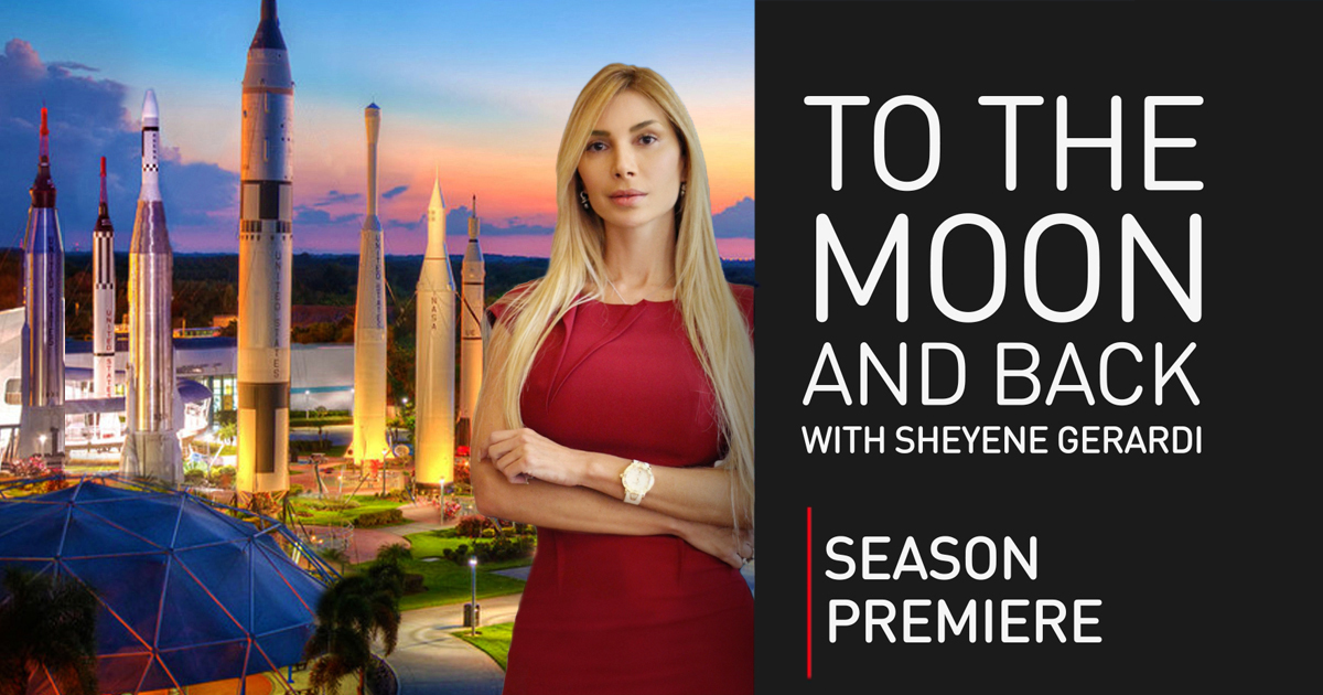 To the Moon and Back with Sheyene Gerardi, kicks off its first season with space, rockets and cyborgs.