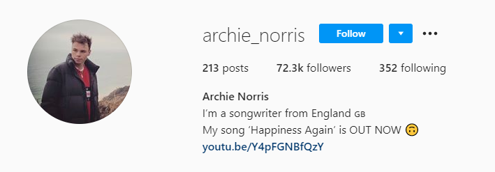 Archie Norris Lives To Write Great Music