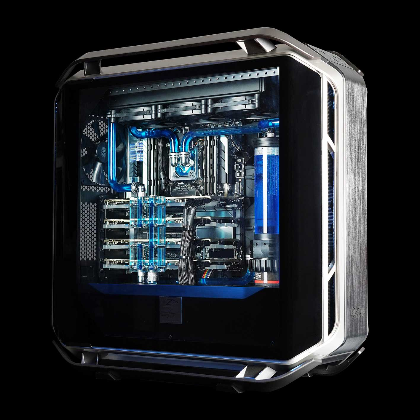 BIZON Releases Water-Cooled GPU Workstation PC and GPU Server for Deep Learning/AI and 3D Rendering