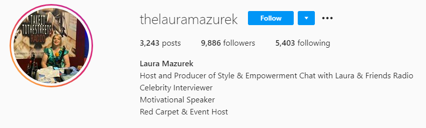 Laura Mazurek Hosts Red Carpet Shows And Motivational Podcast Shows Internationally