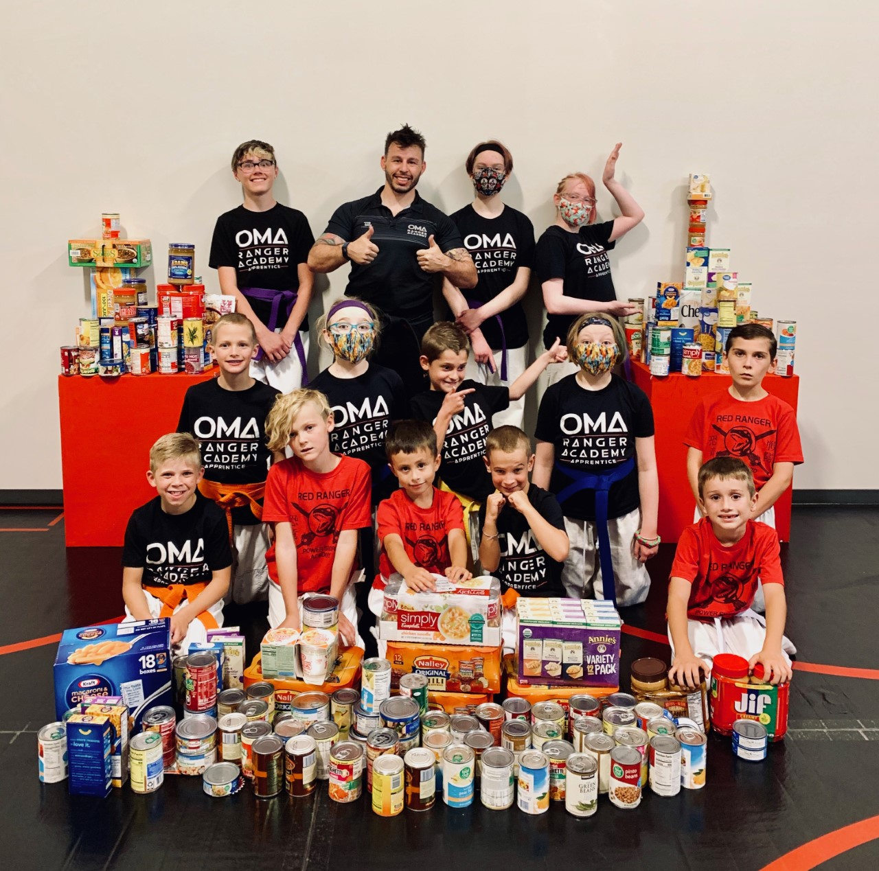 Karate Kids from OMA Ranger Academy Become Real-Life Heroes by Helping Replenish Local Food Bank with Supplies for Holiday Season