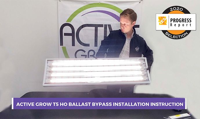 Active Grow's New T5 HO Ballast Bypass LED Horticultural Lamp Selected for the IES 2020 Progress Report