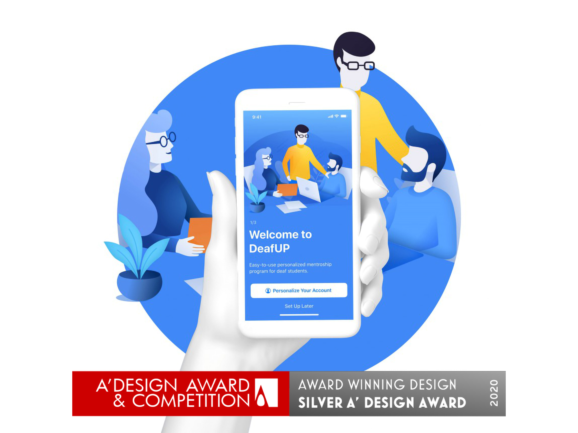 Unique App for Deaf People Wins Silver Award from World's Largest Design Contest