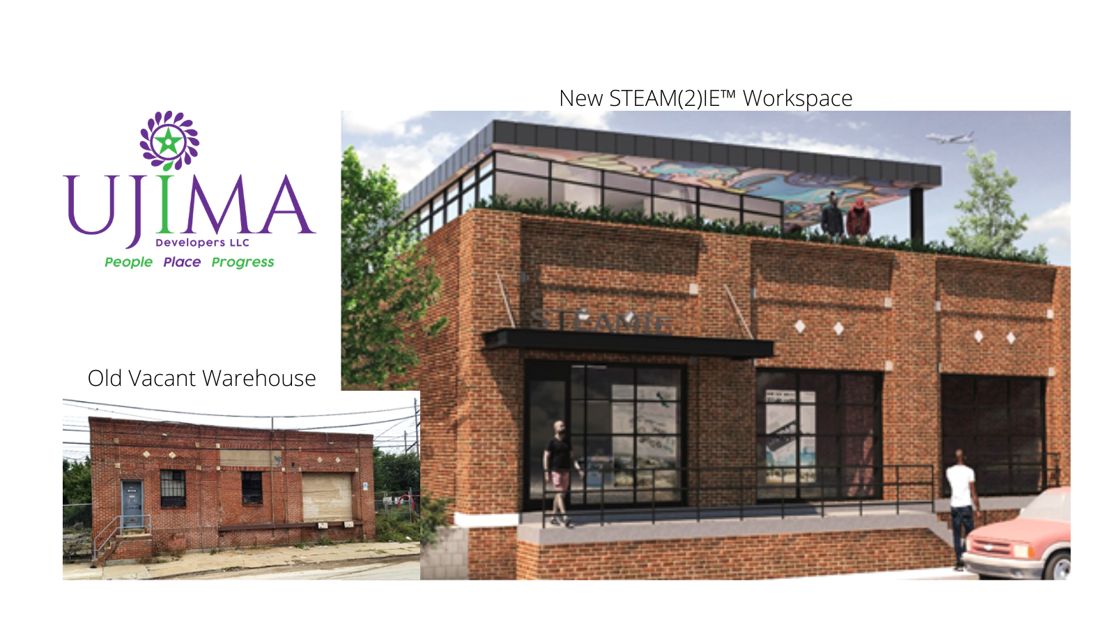 Ujima Developers, LLC Begins Developing STEAM(2)IE™ Workspaces, a Vacant Warehouse Turned Makerspace in West Philadelphia