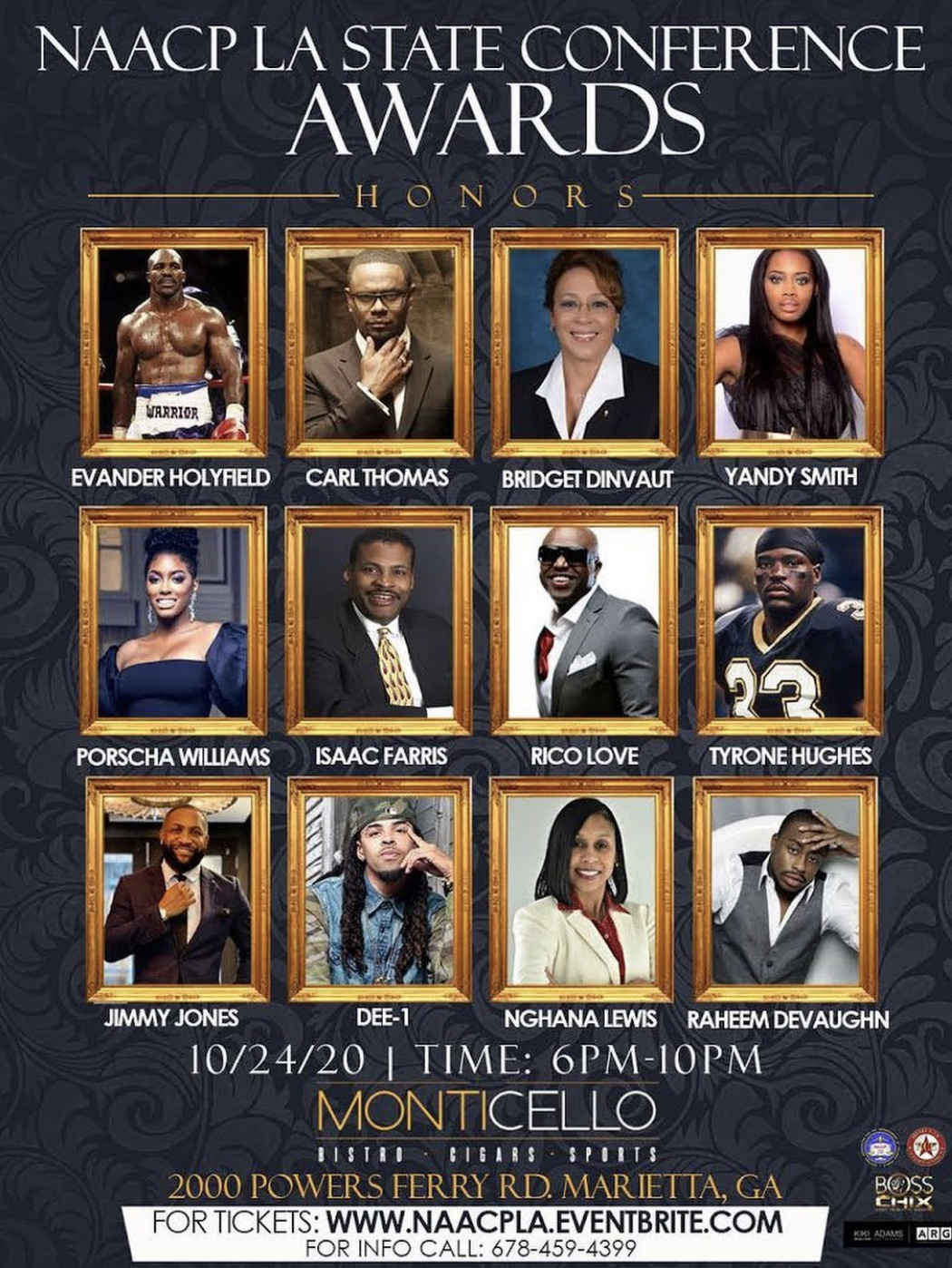ABC Productions & Boss Chix ATL Present The NAACP State Conference - Power of Influence Awards October 24, 2020