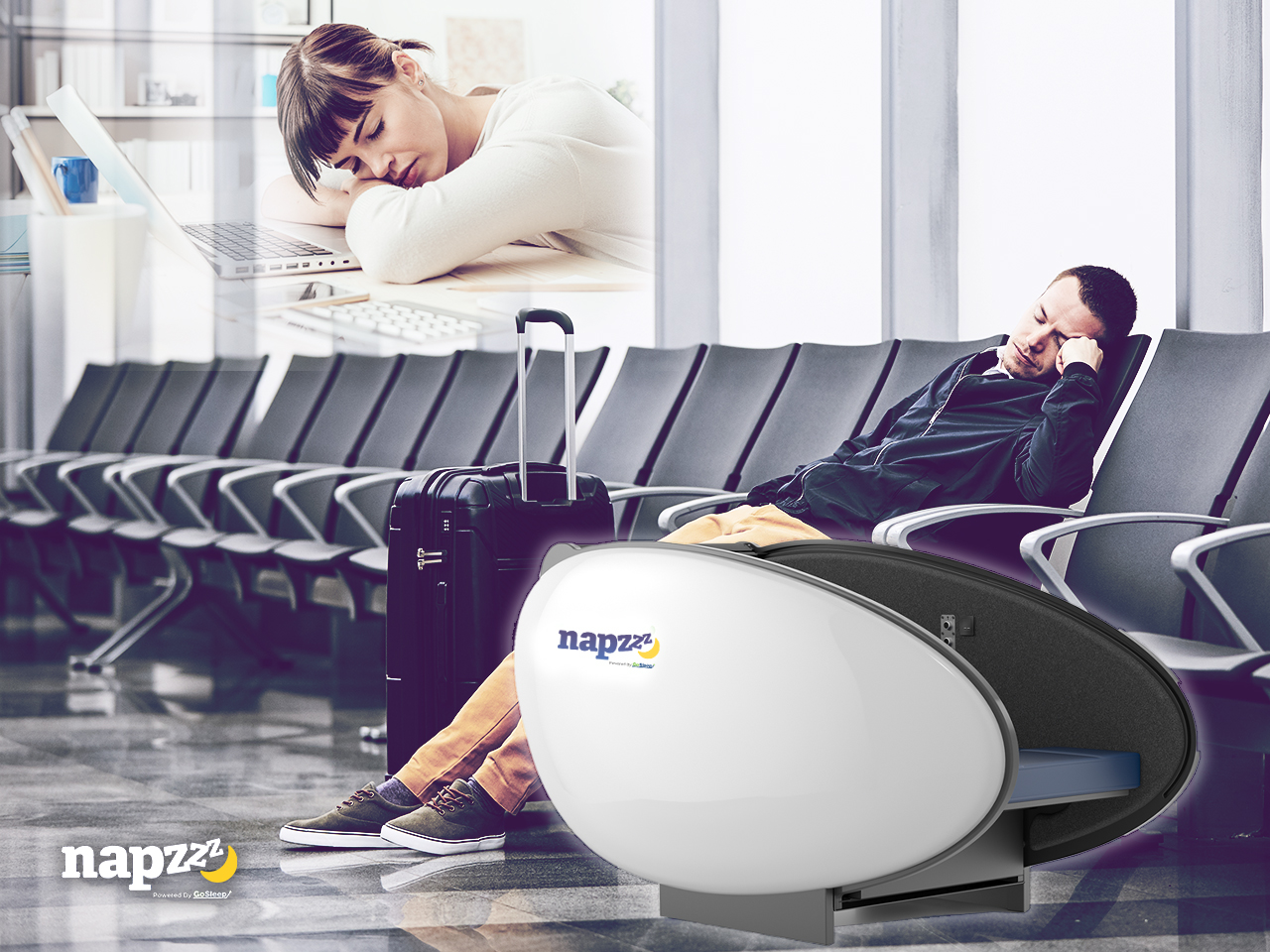 Napzzz Gives the World a Space to Power Nap Anywhere, Anytime with Napzzz Sleeping Pods