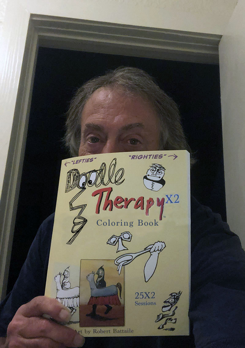 """Doodle TherapyX2"" Coloring Book provides whimsical escape during anxious times"