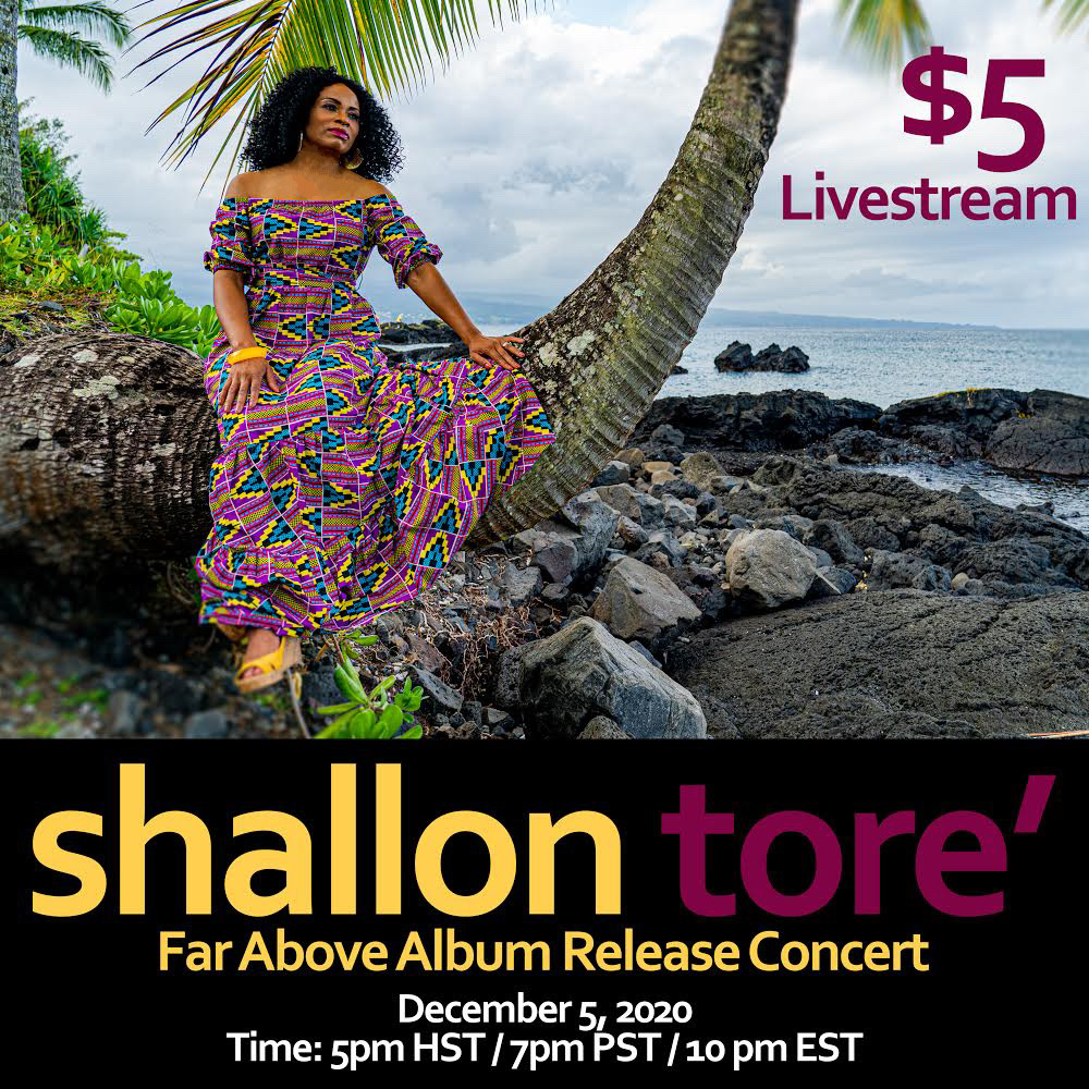 "Shallon Tore's concert and debut album release, ""Far Above"" is destined to rise to the top of the music charts at #1 for R&B, Pop, Soul, Contemporary and Urban Gospel."