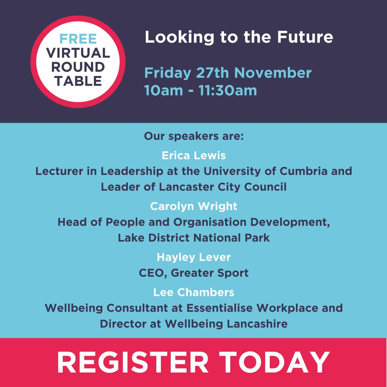 Psychologist Lee Chambers part of Trueman Change round table discussion entitled Looking to the future