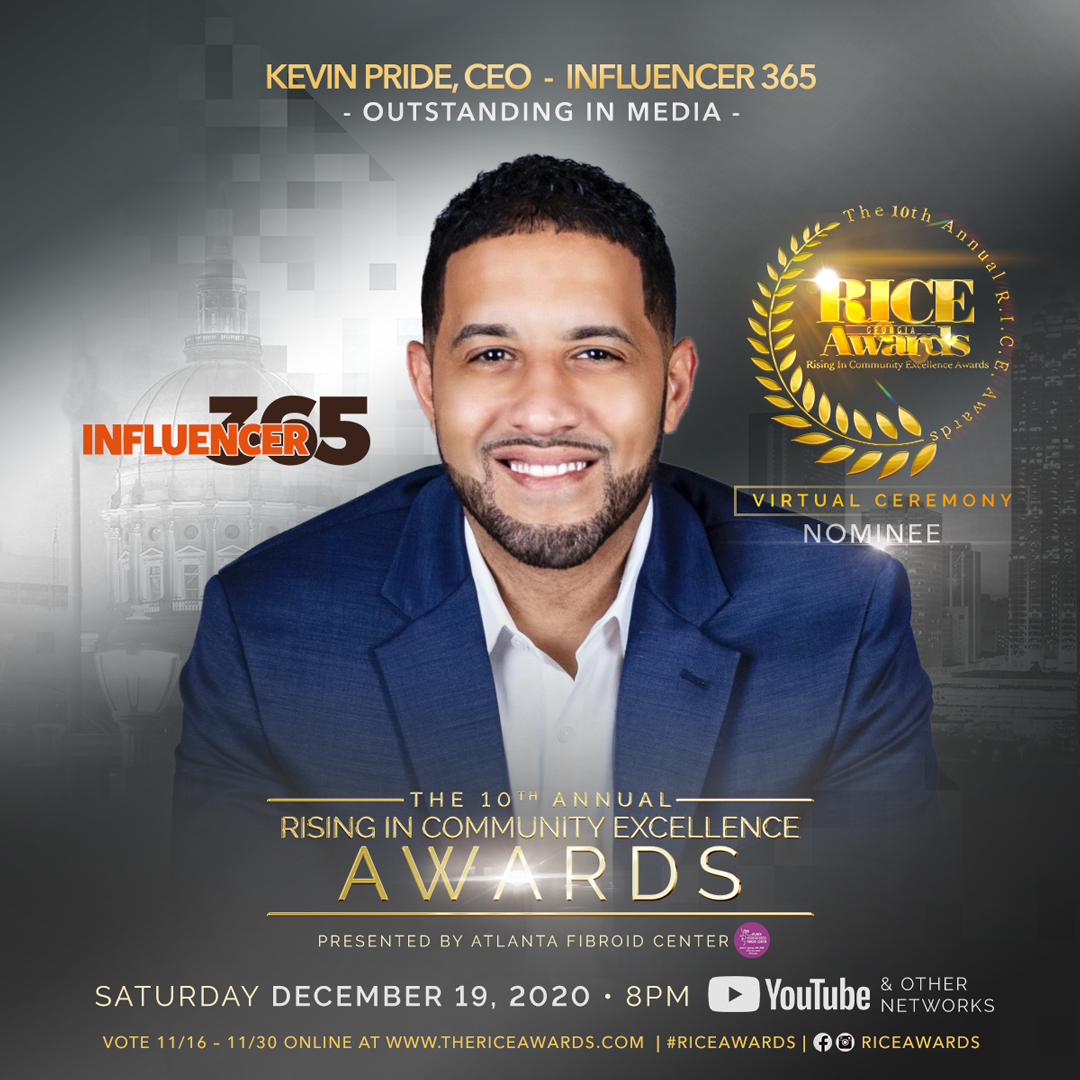 Kevin C. Pride, Nominated in Outstanding Media Category in Atlanta's Prestigious 10th Annual Rising in Community Excellence Awards