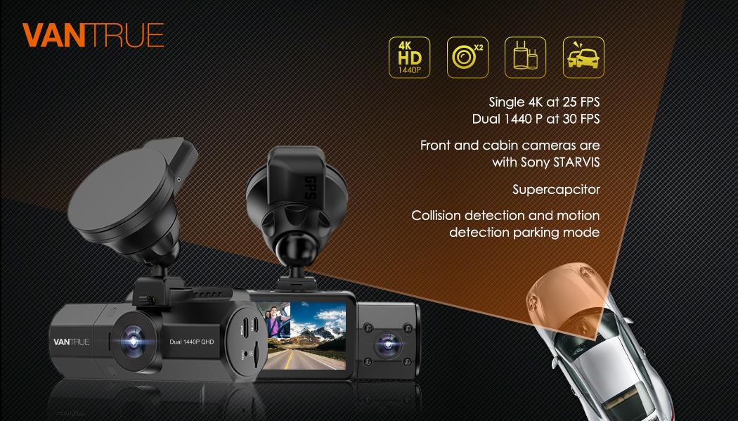 Vantrue Adds Dual 1440 P Dash Cam to its Online Store