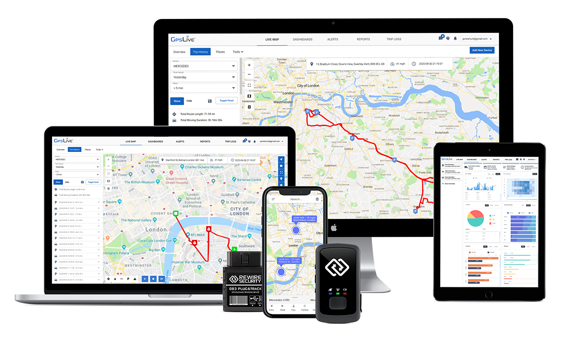 Rewire Security Launches GPS & Telematics Platform and APP for Fleets