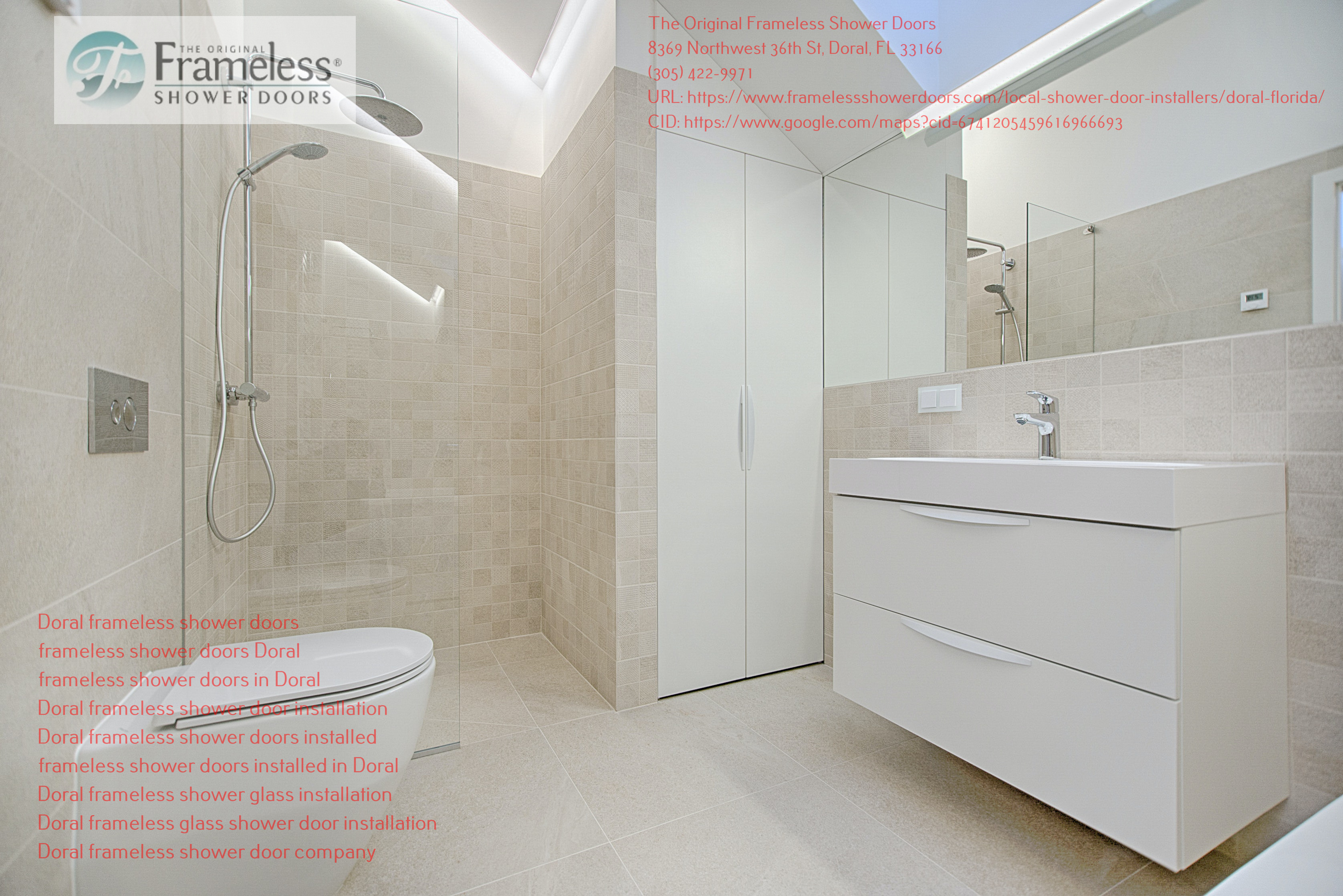 The Original Frameless Shower Doors aims at helping Doral resident have access to quality and trending Shower Doors