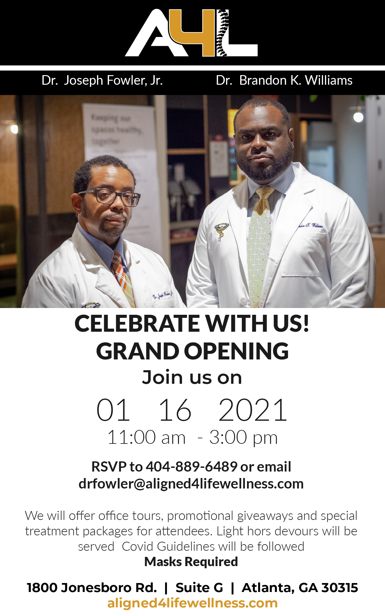In Response to Covid-19 Wrecking Havoc on Black and Brown Communities Two Black Chiropractors in Atlanta are Changing the Face of Health and Wellness