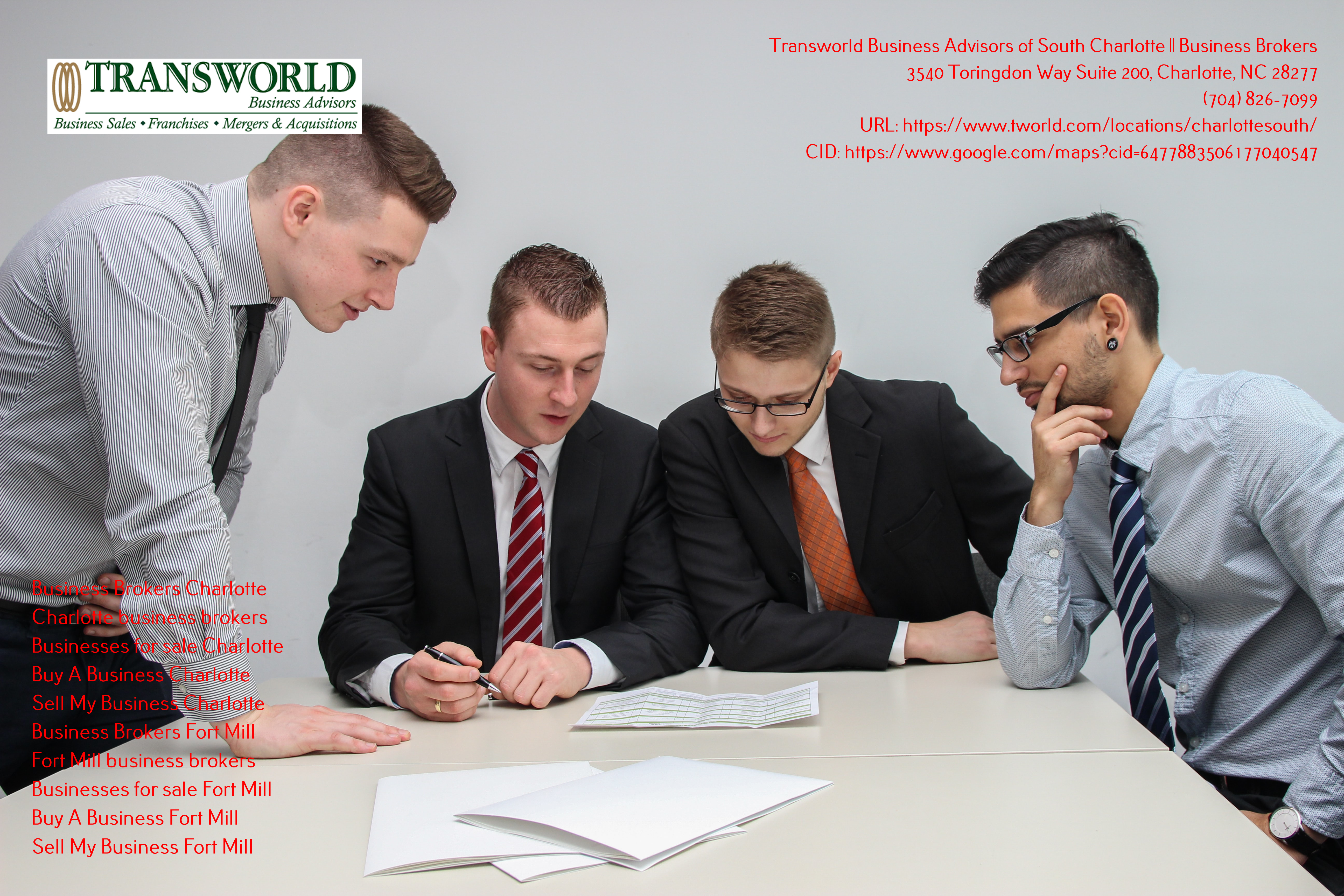Transworld Business Advisors of South Charlotte Informs Clients on What They Should Be Looking for When Seeking Business Brokers