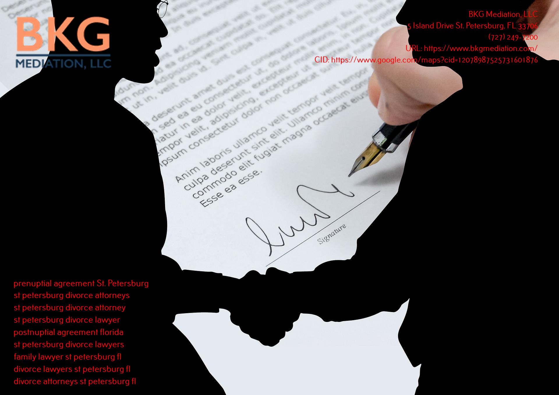 BKG Mediation, LLC St. Petersburg Introduces Prenuptial Agreement St. Petersburg