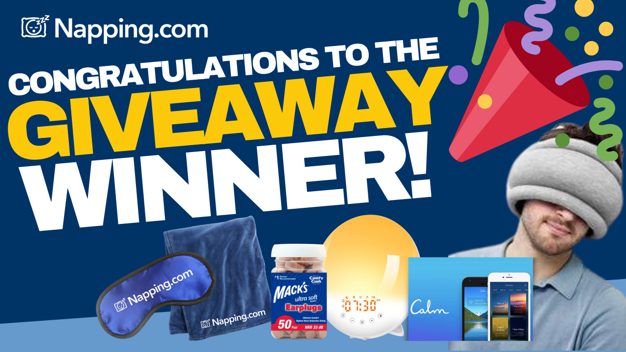 "Napping.com Announces ""Nap Your Way Through the Day"" Giveaway Winner"