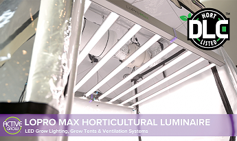Active Grow DLC Listed LoPro Max LED Grow Lights Video: Watch and Learn about Far-Red Wavelengths, High CRI Benefits and the PBAR Spectral Range