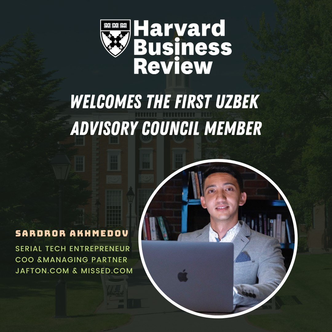 Sardor Akhmedov Officially Joins the Harvard Business Review Advisory Council as the First Uzbek Member