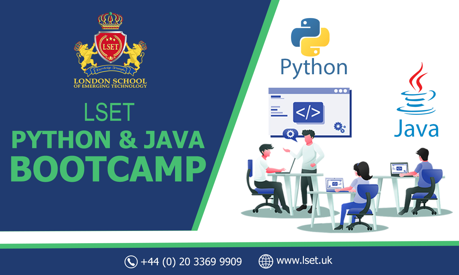 LSET is Coming up with Java and Python Bootcamps