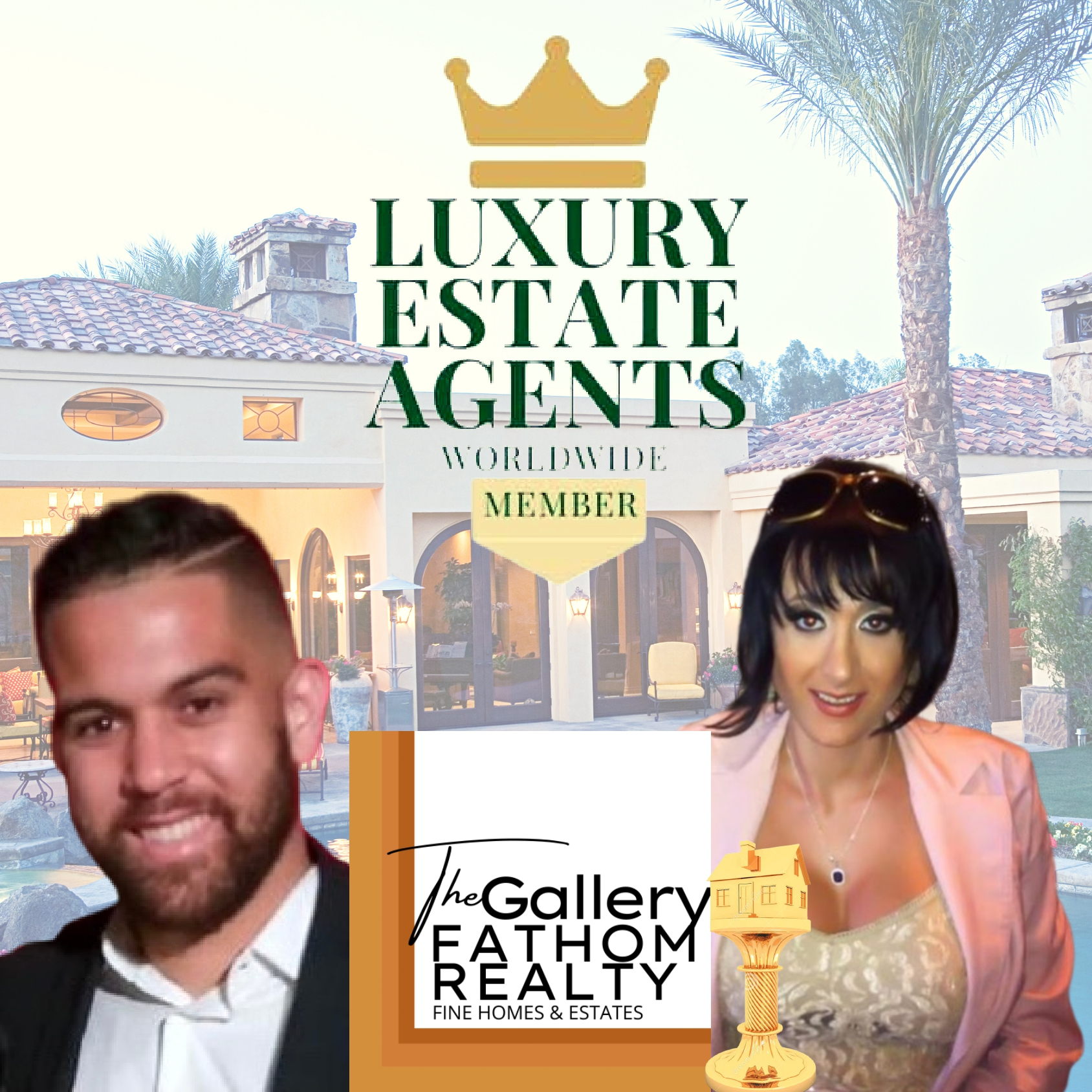 "Holly Stallings and Christopher Durham of The Gallery at Fathom Realty recognized by ""Luxury Estate Agents Worldwide"""