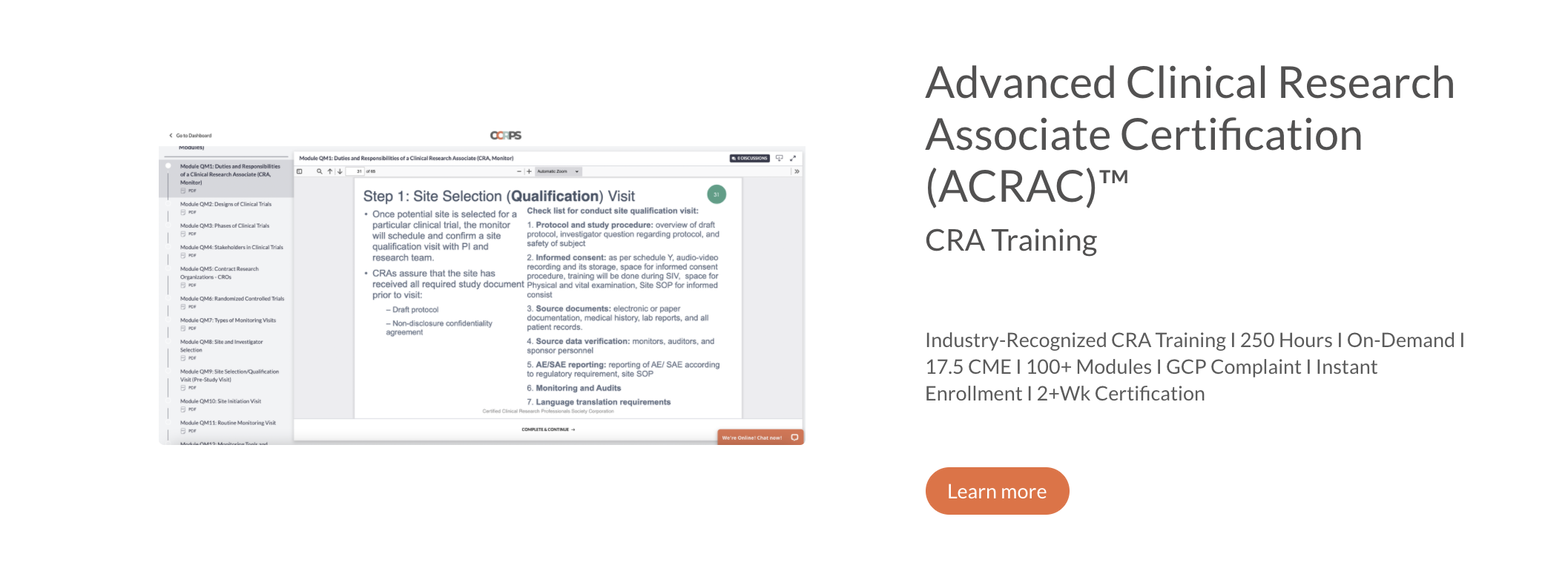 How to Become a Clinical Research Associate (CRA)? CCRPS Provides Entry-Level Options for Advanced CRA Training