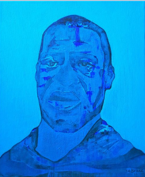 George Floyd Tribute Painting by Artist Riccardo De Bruce