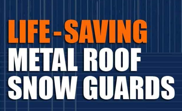 SnoBlox-SnoJax Produces the Metal Roofing Snow Guards Needed to Stop Sliding Snow and Ice