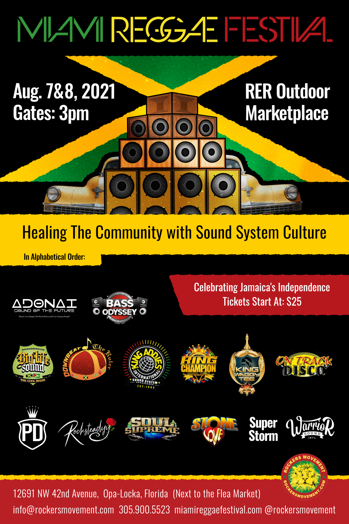 Rockers Movement Schedules Annual Miami Reggae Festival