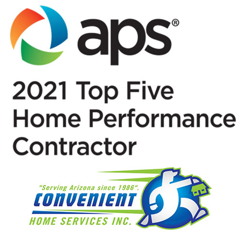 Convenient Home Services, Inc. Earns 2021 Top Five Contractor Award From Arizona Home Performance with Energy Star