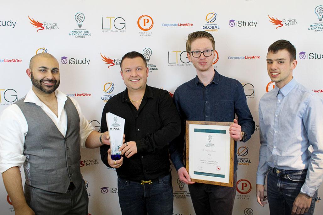 Enterprise Web Hosting Platform Brixly Proud Winners of Another Prestigious Award