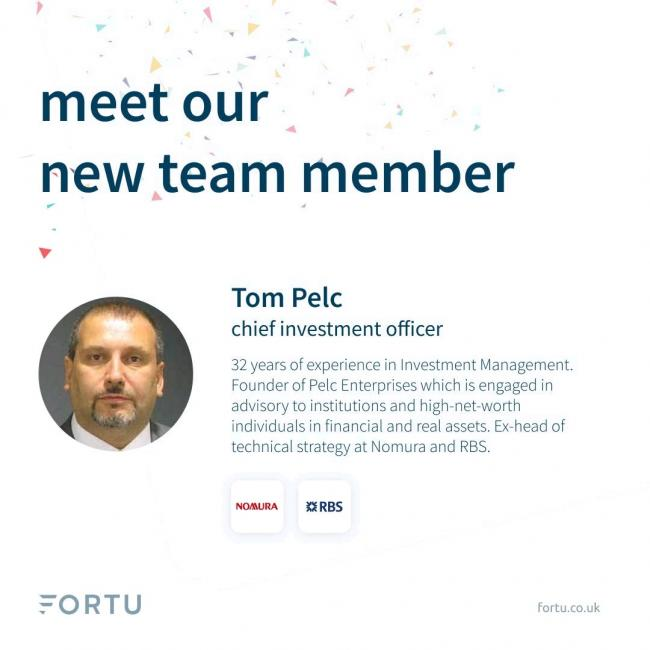 Fortu Wealth Appoints Tom Pelc As Its New CIO