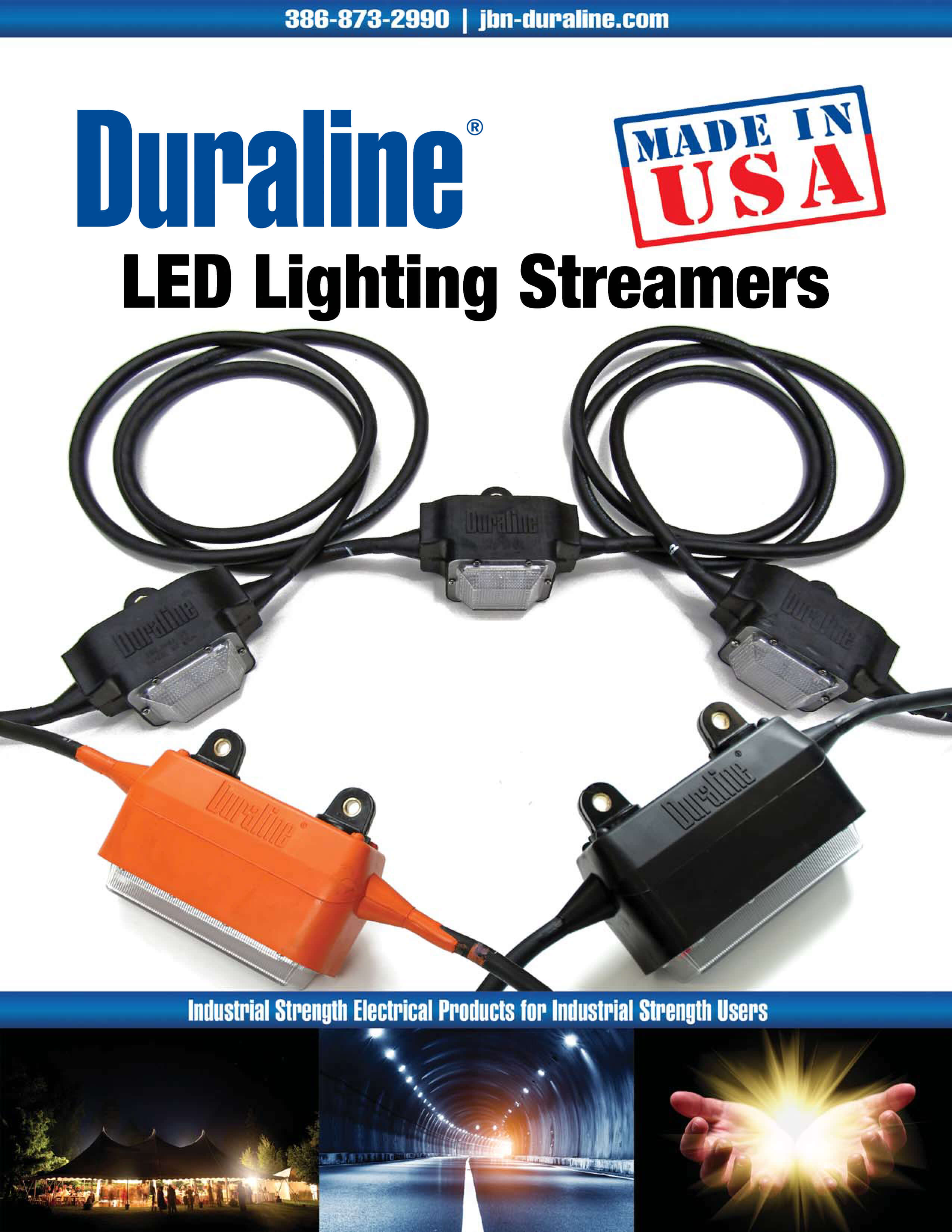 The Duraline Mighty LED Light Streamer Offers High-Intensity Light To Illuminate a Vast Area