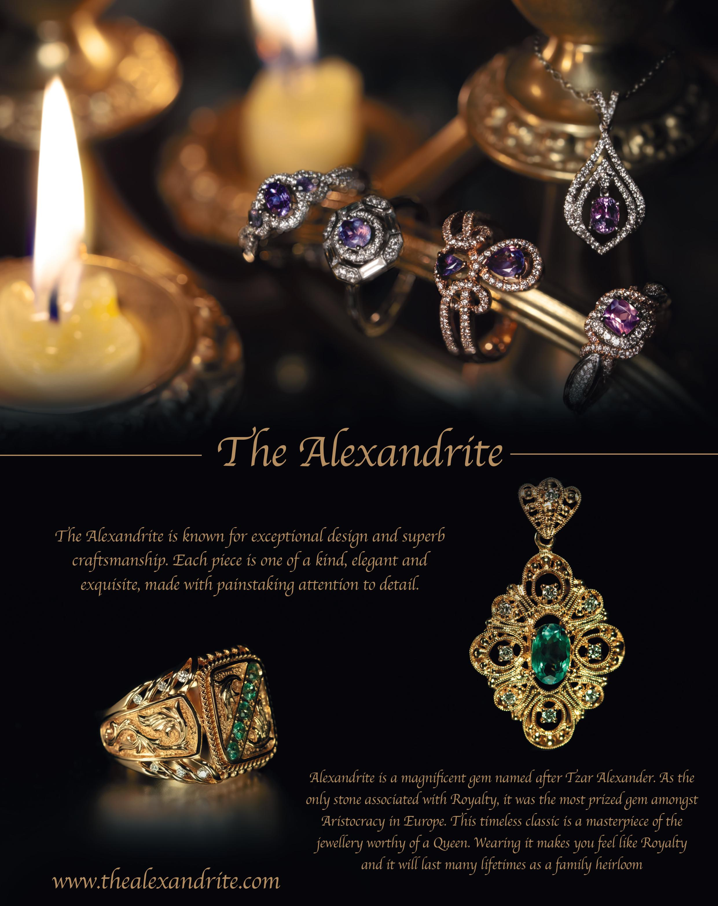 The Alexandrite: The Only Precious Stone Associated with Royalty Prides itself for Providing GIA Certified Natural Alexandrite since 2006